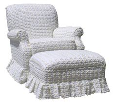 White with Yellow Rosebud Chenille Upholstered Rocker Glider Chair Baby NEW!!! #AngelSong