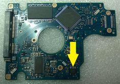 Uszkodzona elektronika dysku