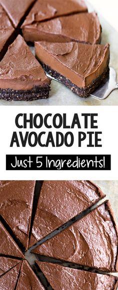 How To Make Chocolate Avocado Pie! How To Make Chocolate Avocado Pie! The Best Creamy Vegan Chocolate Avocado Pie Recipe Avocado Dessert, Avocado Pie, Baked Avocado, Avocado Mousse, Avocado Cheesecake, Avocado Brownies, Avocado Smoothie, Keto Brownies, Ripe Avocado