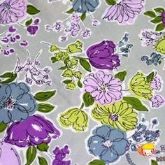 Vera Bradley fabric Remnant 100% Cotton Watercolor 1 Yard