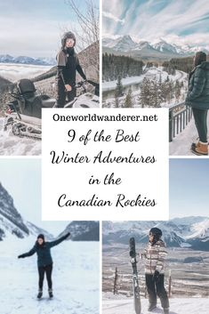The top winter adventures and activities to do in the Canadian Rockies that will take your winter ski trip to the next level making it a bucket list adventure. Best things to do, free things to do, outdoor, and adventurous travel tips for Canada and the Canadian Rockies. #canada #travelling #canadarockies