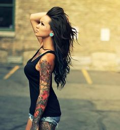 Girls are trying to enhance their beauty more and more  by doing many of experiments ,.in which tattoos are  playing a very important role to increase their beauty. Here is a Gallery Of Cute and beautiful girls with tattoos ideas and designs I wanna sleeve