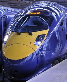 Modern train are a mix in design between airoplane and racing car.