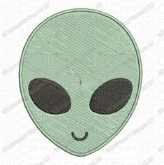 Alien Head Face Embroidery Design in Mini and Sizes Alien Crafts, Patch Design, Applique Embroidery Designs, Design Files, Tribal Tattoos, 4x4, Patches, Kids Rugs, Stitch