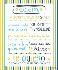 Menta Más Chocolate - RECURSOS PARA EDUCACIÓN INFANTIL: Tarjetas y Mensajes para el Día del PADRE