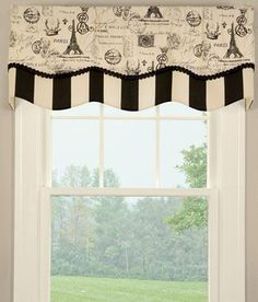 Parisian Script Lined Layered Scalloped Valance