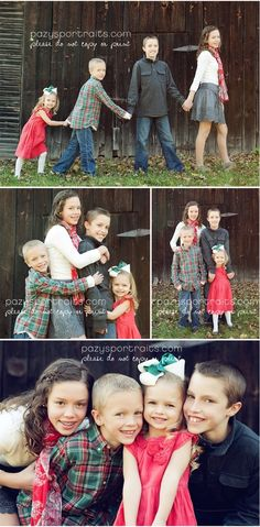 fun sibling photo shoot - I like the top one for my brood. Maybe with the 2nd youngest pulling a wagon with the baby?