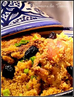 Tagine de couscous au poulet et aux olives - Les saveurs partagees de Taous