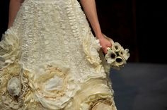 Flower Wedding Dress  One of a Kind  Flora Gown by AvailCo on Etsy, $4400.00