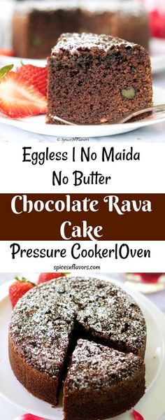 chocolate rava cake eggless cake butter less maida less cake no all purpose flour cake easy simple how to make cake in a cooker cooker cake ip cake #cookercake #ipcake #instantpot #cake #ravacake #eggless #nomaida #nobutter