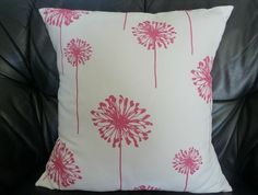 Dandelions+in+Pink+Cushion+Cover by Birds Nest Bunting NZ