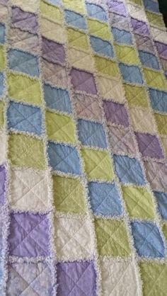 Rag quilt summer breeze colors
