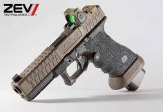Glock ZEV Technologies Custom Glock, Custom Guns, Weapons Guns, Guns And Ammo, Revolver, Glock 9mm, Tactical Gear, Tactical Equipment, Tac Gear