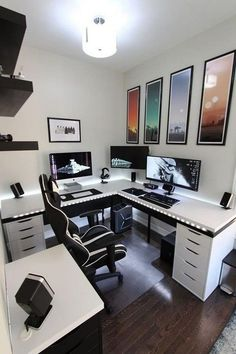 Home Decor Ideas Storage 30 Cool Ultimate Game Room Design Ideas 30 Cool Ultimate Game Roo.Home Decor Ideas Storage 30 Cool Ultimate Game Room Design Ideas 30 Cool Ultimate Game Roo. Home Office Setup, Home Office Design, Interior Design Kitchen, Office Ideas, Office Style, Best Gaming Setup, Gaming Room Setup, Pc Setup, Pc Gaming Table