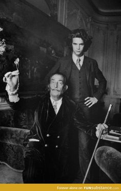 Salvador Dalí and a young Yves Saint Laurent
