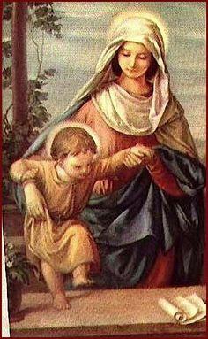 Primeros pasos de Jesús. Madre de suma dulzura y bondad: me atrevo a implorarte que no me sueltes a mí tampoco de la mano. No me permitas desperdiciar la vida.