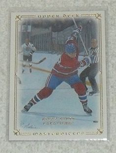 Steve Shutt 2008-09 Upper Deck Masterpieces NHL Hockey Card 63 -- This is an Amazon Affiliate link. Want additional info? Click on the image.
