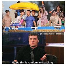 Even Josh has One Direction infection!! Another reason why we are meant to be.