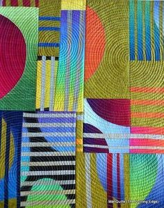 I'd love to try something modern like this.#modernquilt #colorcombination #inspiration www.marycoveydesigns.com