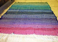 Whitney's finished rag rug