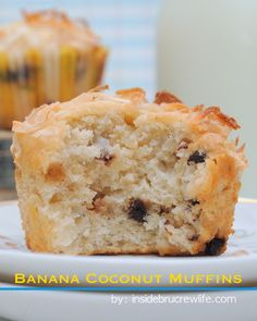 Banana Coconut Muffins - these muffins are perfect for breakfast or snack. Karl says these are the best muffins I've ever made :) Coconut Muffins, Banana Coconut, Banana Nut, Banana Bread, Cupcakes, Cupcake Cakes, Mini Desserts, Just Desserts, Dessert Recipes