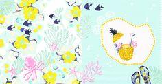 #animal #frame #枠 #動物 #広告 #花 #flower #デザイン #お洒落 #可愛い #線画 #コラージュ #collage #illustration #kanakobayashi #art #illust      #sea #海 #summer #夏 #パイナップル