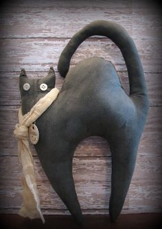 black primitive dolls | Black Cat Primitive Halloween Doll by ThatSallie on Etsy