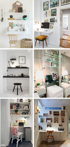 Mini home office - Small home offices - Pequenos escritórios