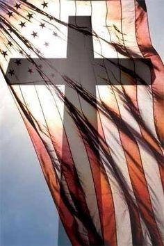 America flag and cross :) Love!!!!