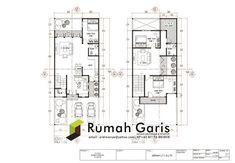 Denah Rumah Dan Tampak - Kreasi Rumah Modern House Floor Plans, Dream House Plans, Small House Plans, Modern House Design, Autocad Layout, Duplex Plans, Villa Plan, Conceptual Design, Home Design Plans