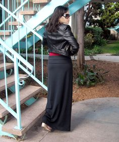 ON SALE Black Maxi Skirt with Foldover Waistband made from Stretchy Knit Jersey petite tall plus size xs small med large xl 2x 3x 4x 5x on Etsy, $27.00