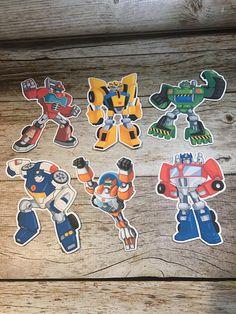 Transformers Rescue Bots cutouts for centerpieces