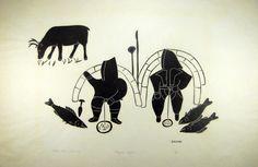 Unexpected Caribou by graphic artist Helen Kalvak Inuit Art, Gravure, Geometric Designs, Trees To Plant, Line Art, Folk Art, Moose Art, Symbols, Graphic Design