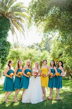 A Whimsical Zoo Wedding by Marianne Wilson Photography - Wedding Party