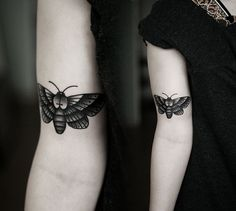 upper back oak moth tattoo - Google Search