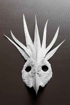 Beautiful Cut Paper Animal Masks by Flurry & Salk.