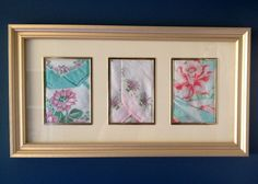 Remembering+Grandma -- Here is a wonderful idea for framing handkerchiefs to honor the grandmother who owned them.  The same could be done with embroidered pillowcases or other needlework.