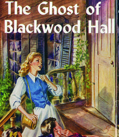 Nancy Drew: The Ghost of Blackwood Hall.     This book takes Nancy and Bess to the splashy opulence of New Orleans' French Quarter, where Nancy looks to help a woman who insists spirits are threatening her. Nancy's desire to find the unseen perpetrators of these paranormal sightings is dampened by obstacles on all sides—even the victims shun Nancy's help after the spirits tell them to stay away.