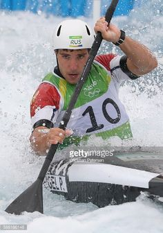 #RIO2016 Pavel Eigel of Russia competes during the Kayak Men's Semifinal on Day 5 of the Rio 2016 Olympic Games at Whitewater Stadium on August 10 2016 in Rio...