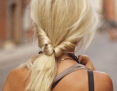 Great summer hairdo: pony flip
