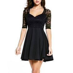 Amazon.com  Women Lace Stretch Clubwear Cocktail Evening Party Bodycon  Pencil Dress  Clothing 76e7cb662a99