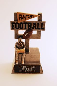 FANTASY FOOTBALL TROPHY- FREE ENGRAVING!!! SHIPS IN 1 DAY!! #Unbranded