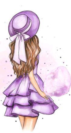 Beautiful Girl Drawing, Cute Girl Drawing, Cartoon Girl Drawing, Beautiful Drawings, Cartoon Art, Girl Cartoon, Girly Drawings, Cool Art Drawings, Art Drawings Sketches