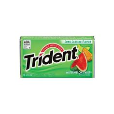 Trident Watermelon Twist Gum 18 pcs. (12-Pack) ($17) ❤ liked on Polyvore featuring food, random and filler