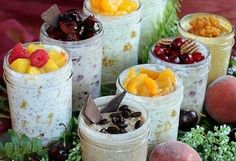 8 New Refrigerator Oatmeal Flavors! Eight new delicious oatmeal flavors you can make at home for a healthy, grab-and-go, make-ahead, no-cook mason jar breakfast. Healthy Recipes, Healthy Snacks, Cooking Recipes, Oats Recipes, Smoothie Recipes, Healthy Smoothies, Porridge Recipes, Quick Snacks, Healthy Breakfasts