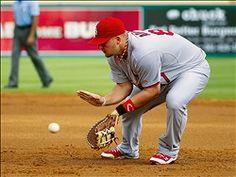 Playing first base- Matt Adams