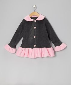 Take a look at this Pink & Gray Skirted Jacket - Infant, Toddler & Girls by Bella's Boutique on #zulily today!