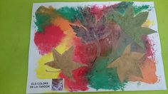 Els colors de la tardor a P3: barreja de colors i enganxem fulles Art Activities, Arts And Crafts, Painting, Autumn Activities, Proposals, Colors, Eggs, Craft Items, Painting Art