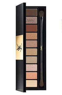 This Yves Saint Laurent eye palette is filled with hues directly inspired by the brand's creative studio in Paris. From pale to deep and matte to shimmery, an infinite amount of looks can be created with ease.