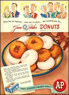 Vintage Ads 1950's...DONUTS!